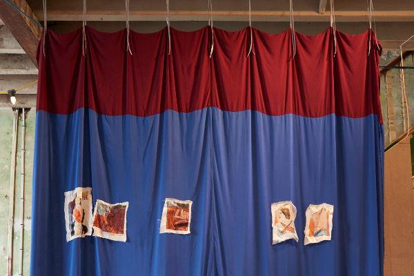 Photos on the drapes