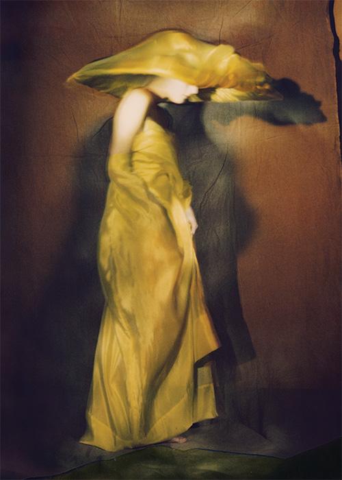Guinevere in yellow dress, Paris 1996