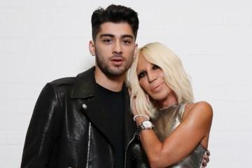 Front Cover. Donatella Versace and Zayn Malik