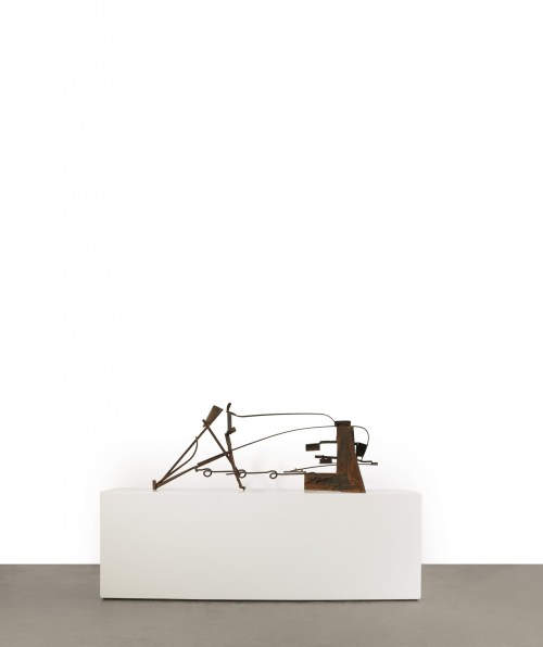 Anthony Caro, Table Piece Z-8, 1978-79, rusted and varnished steel, 67.3 x 171.4 x 49.5cm