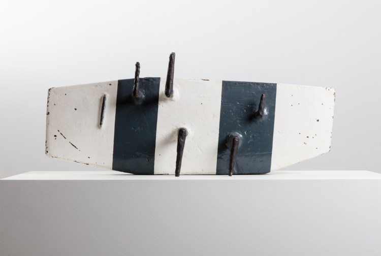 Kenneth Armitage, Model for a Large Work, Version B, 1963, Bronze Painted, Edition of 6, 83.9 x 35.5cm, Copyright Marlborough Fine Art, Courtesy Marlborough Fine Art
