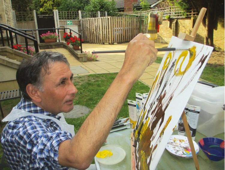 Adult painting. Copyright Autistica