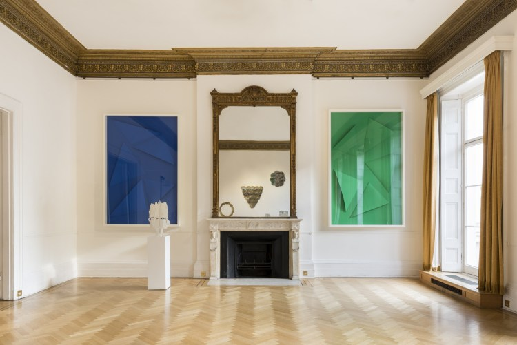 Installation View_Pietro Consagra _ Marine Hugonnier at the Italian Cultural Institute. Courtesy of ARTUNER
