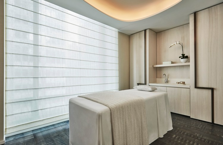 A treatment room at the spa