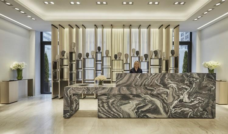 The impressive reception area