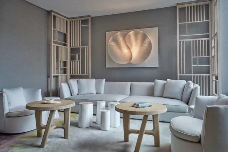 The spa's serene lounge