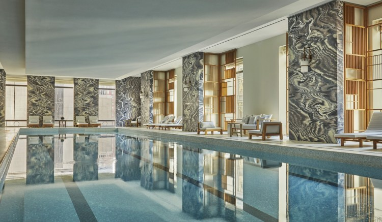 The stunning swimming pool