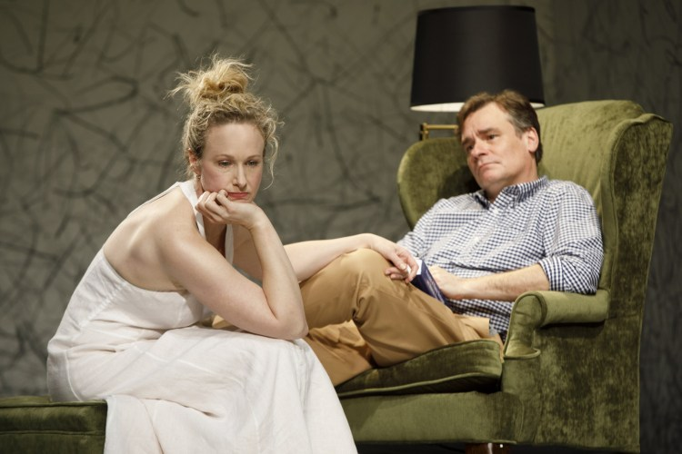 Katie Finneran & Robert Sean Leonard in Edward Albee's At Home at the Zoo - Homelife & The Zoo Story at Signature Theatre.