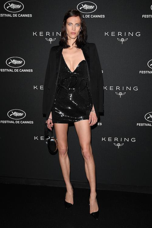 AYMELINE VALADE IN SAINT LAURENT Cannes 2018