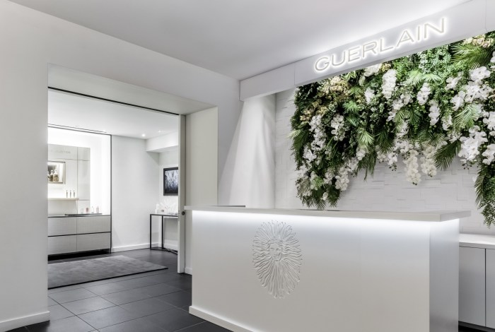 The reception area at Guerlain Spa