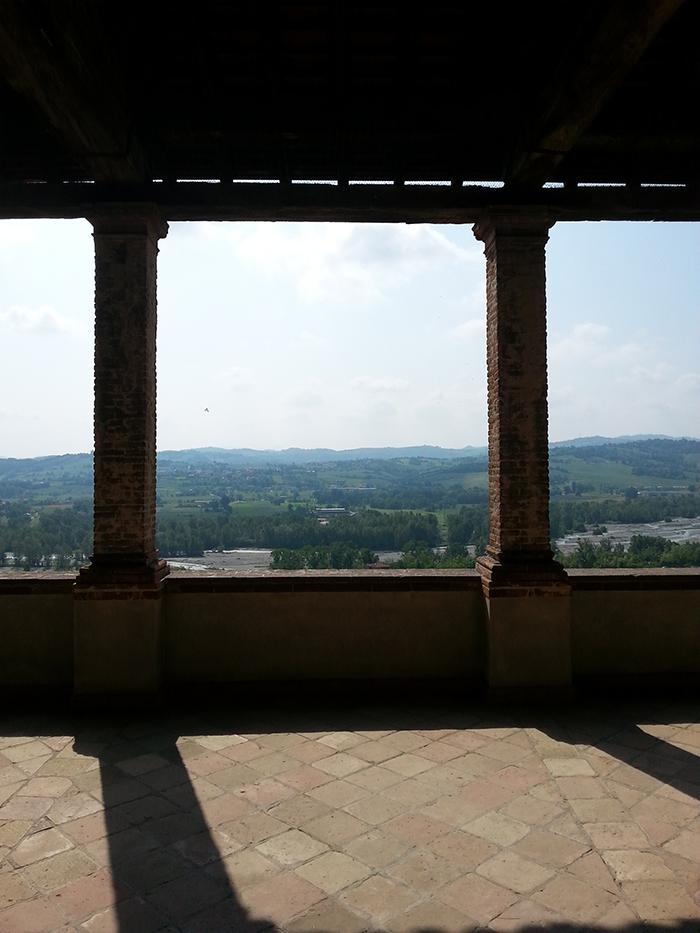 The balcony at Torrechiara