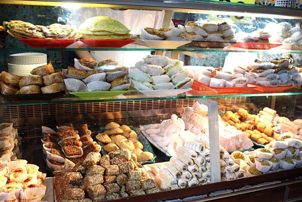Case of pastries Salon du The Grand Mosquee Paris