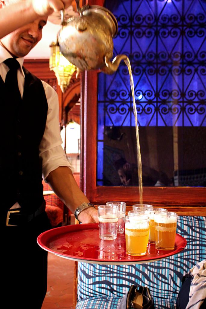 Pouring tea Salon du The Grand Mosquee Paris