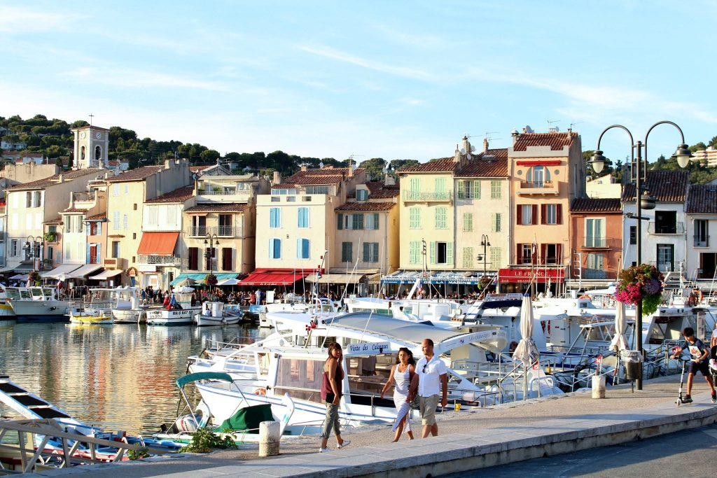 The Glittering Unknown, Calanques and Cassis, marina port downtown Cassis