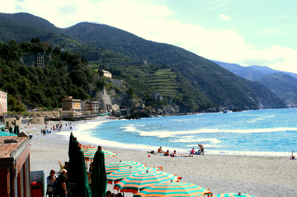 Beach Monterosso al Mare Cinque Terre Italy, Monterosso to Vernazza, The Glittering Unknown