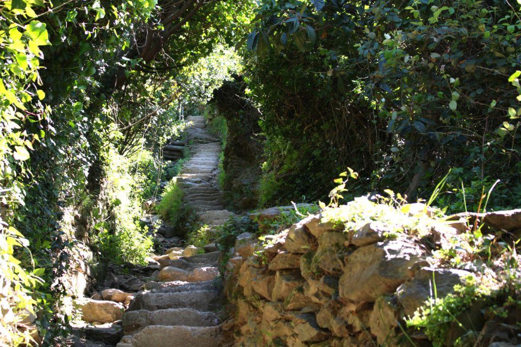 The Glittering Unknown stairs on the Sentiero Azzurro Cinque Terre Italy