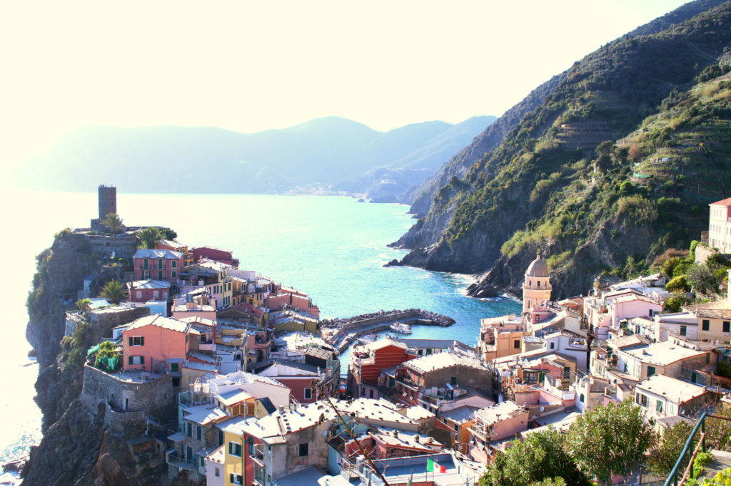 View from behind Vernazza Cinque Terre Italy, Monterosso al Mare Vernazza, The Glittering Unknown