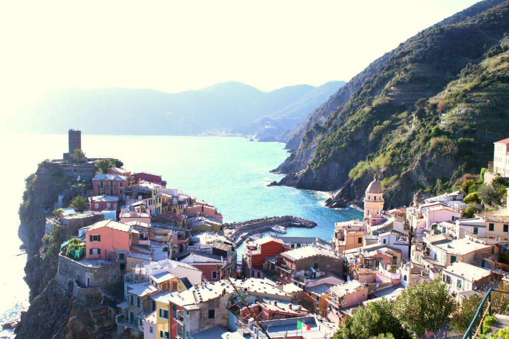 View from behind Vernazza Cinque Terre Italy, Monterosso al Mare Vernazza, The Glittering Unknown