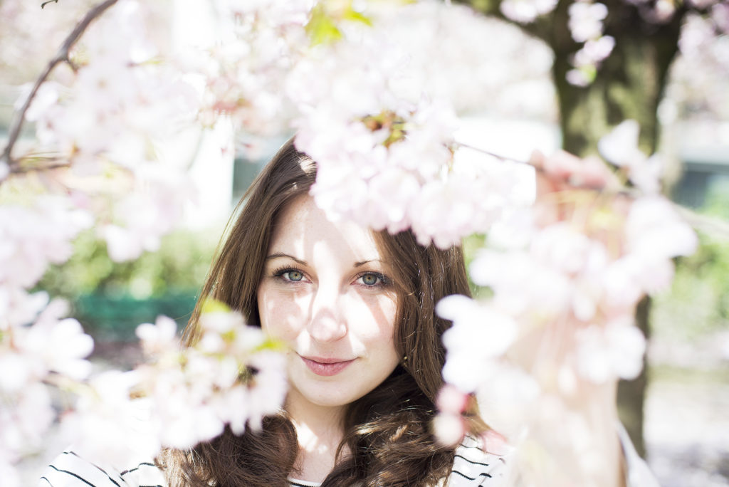 Through the blossoms, Blossoms and Stripes, photo by Brandie Raasch Paris Ever After