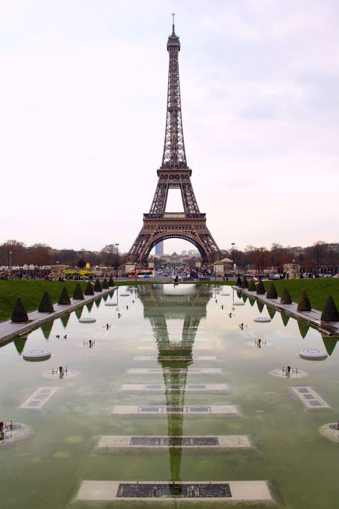 Eiffel Tower reflection in the Trocadero fountain, Paris, The Glittering Unknown