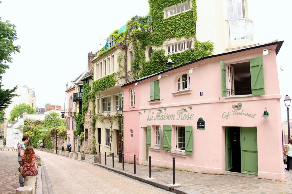 La Maison Rose, Montmartre, Paris, The Glittering Unknown