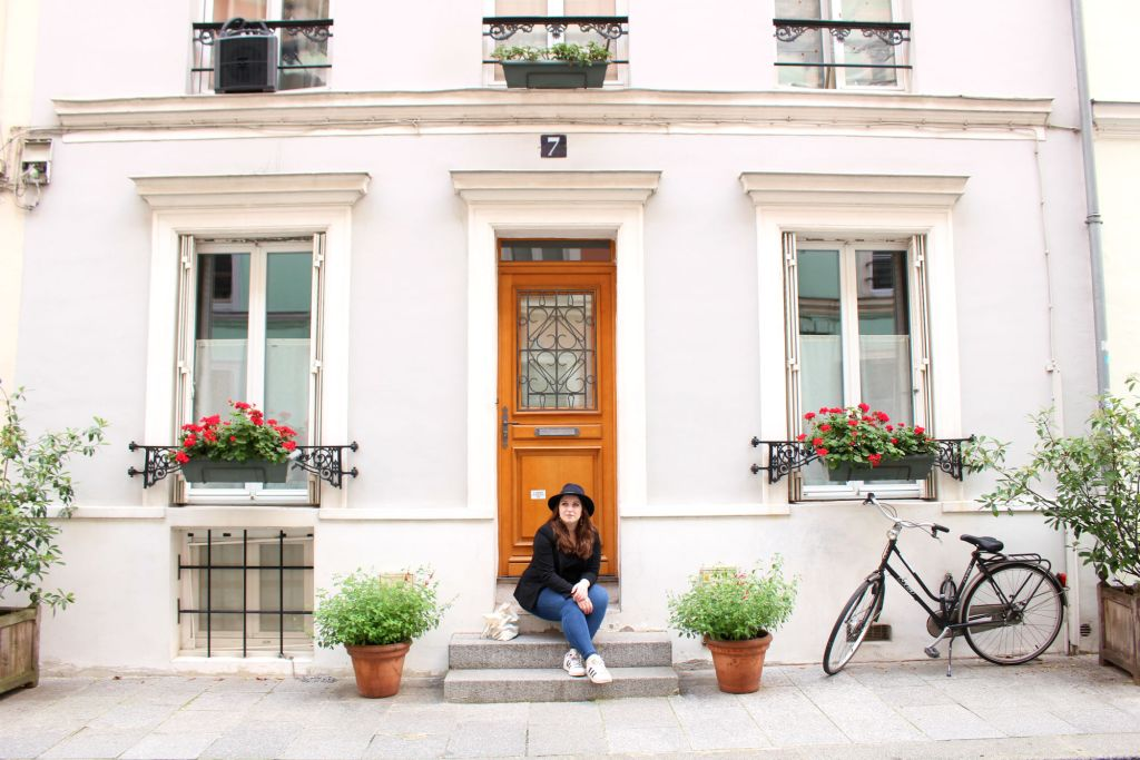Emily of The Glittering Unknown on Rue Cremieux, Paris