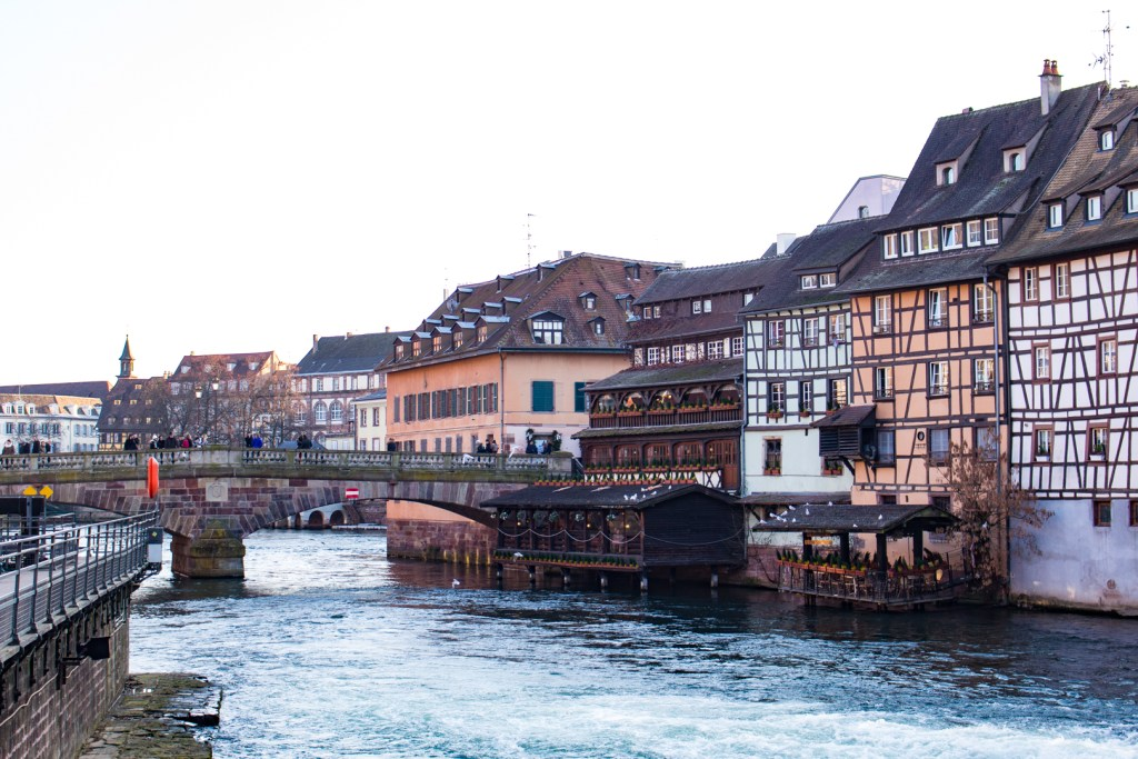 Petite France along the river: A Christmas Getaway in Alsace (Strasbourg Christmas Markets)