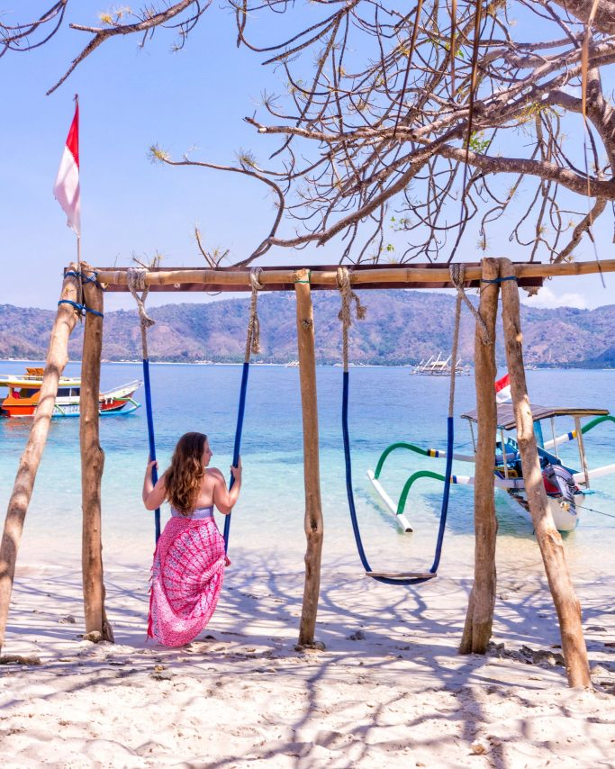 Swings on Gili Tangkong- Why You Should Visit Lombok, Indonesia NOW