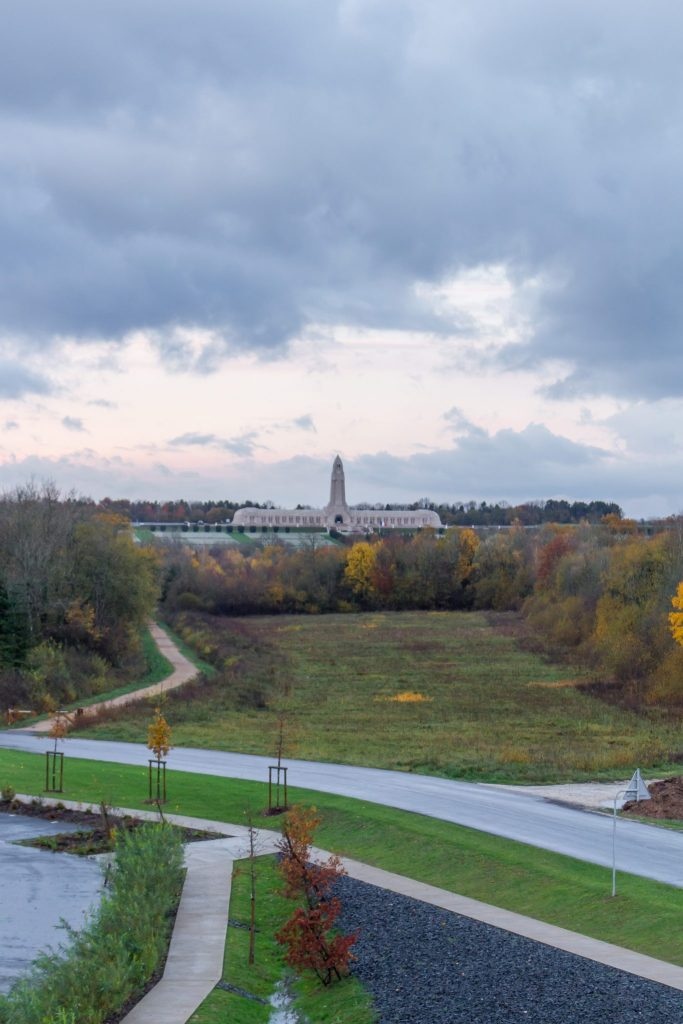 View of Douaumont Ossuary from Verdun Memorial Museum- 7 Reasons to Visit Lorraine, France