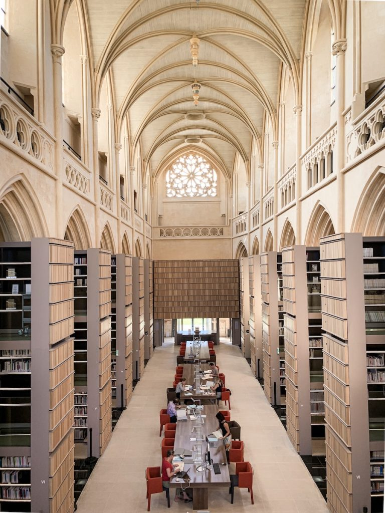 Visit Normandy- Abbaye d'Ardenne library by The Glittering Unknown