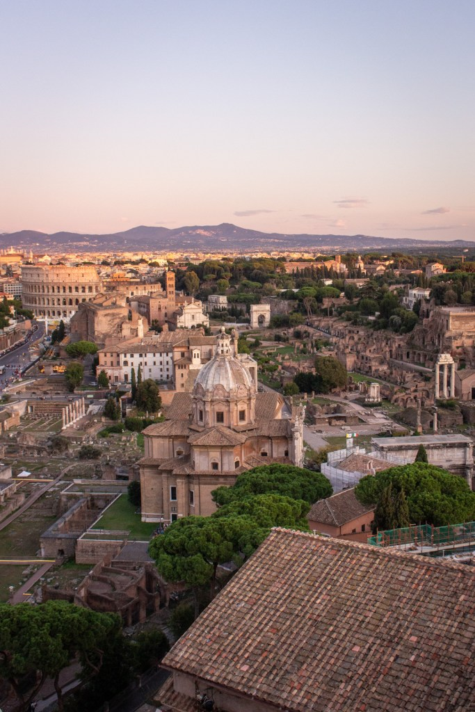 Sunset over the Foro Romano, Rome- - PHOTO DIARIES: ROME