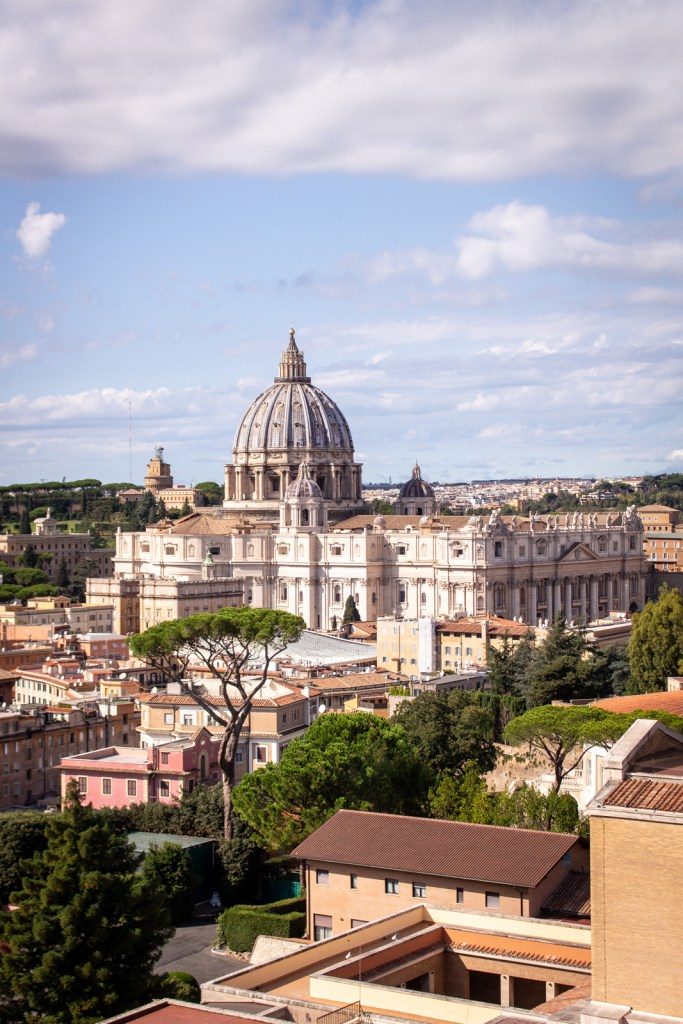 View over Saint Peter's Basilica from Pontifical North American College, Rome