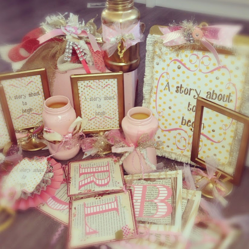 Pink and gold baby shower with free printable the glitzy