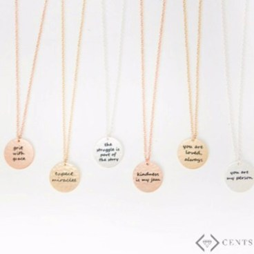 necklaces, accessories, gifts for mom, perfect Christmas gift, phrase necklaces, cents of style,
