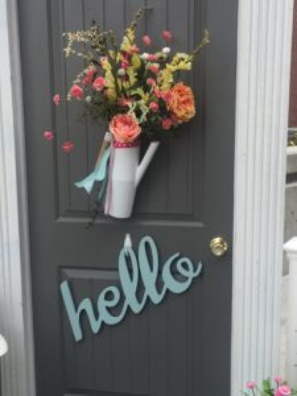 front porch ideas, front door wreaths, spring decor, lanterns, flowers, how to decorate your front porch for spring, studio 5