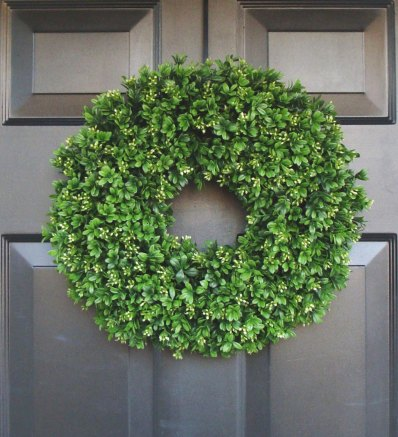 ront door wreaths, black door