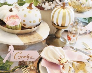Modern Fall Thanksgiving  table setting