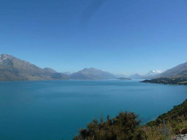 Looking up Lake Wakatipu towards Glenorchy