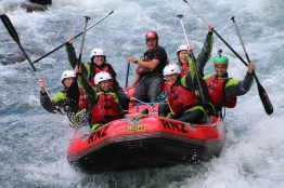 Whitewater rafting in New Zealand