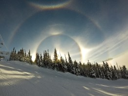 Sun dogs on Blackcomb