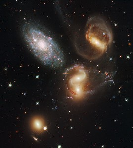 Stephan's Quintet  photo NASA, ESA, and the Hubble SM4 ERO Team