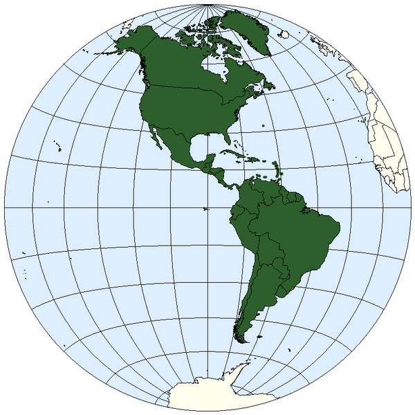Western hemisphere map Public domain image/ E Pluribus Anthony