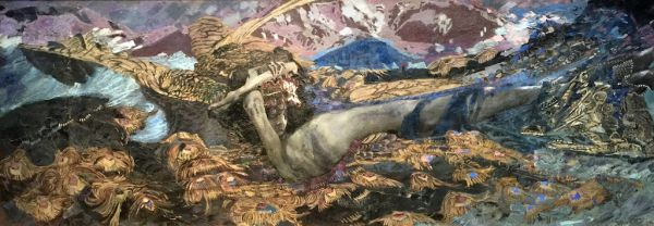 Demon Prostrate 1902 by Mikhail Aleksandrovich Vrubel