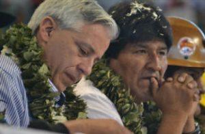 Bolivia's President Evo Morales, left, and Bolivia's Vice President Alvaro Garcia