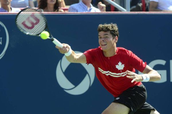 Action from Sunday's Rogers Cup men's singles final - The ...