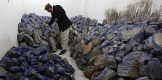 lapis lazuli blue stone afghanistan rare earth