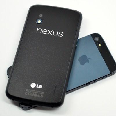 nexus 4 and iphone 4