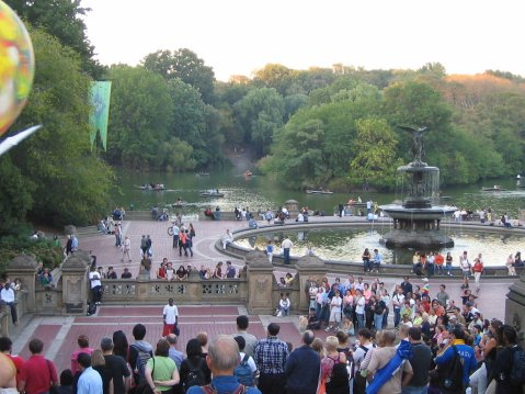A summerday at central park new york