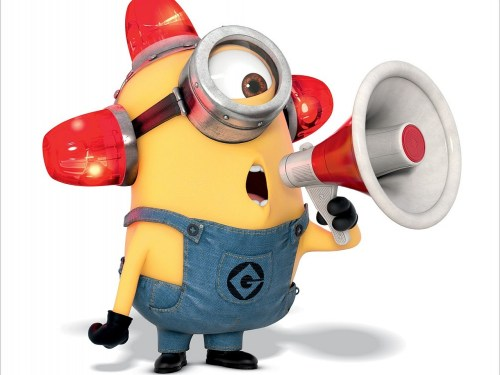 Minion making a Horn