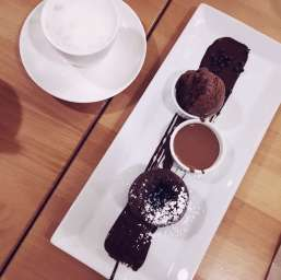 Chocolate Fondant at Juliette & Chocolat in Montreal
